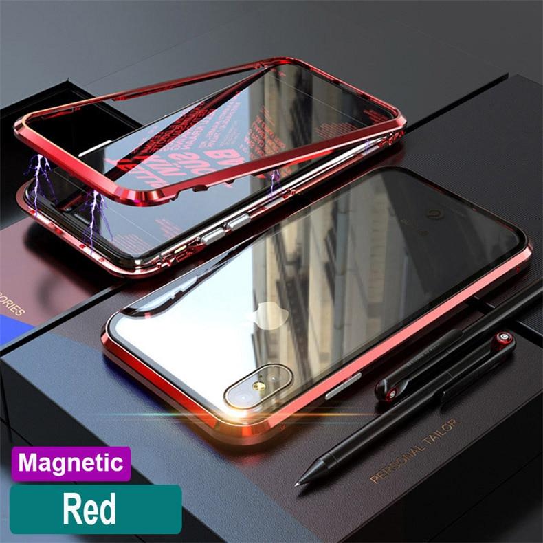 Magnetische Adsorption Flip Fall Für Huawei P20 Lite Mate 10 Pro Für iPhone X XS MAX 6 7 8 Für samsung 8 9 Plus Hinweis 8 9 S7 S8
