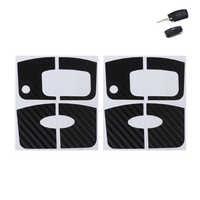 Qilejvs 2 peças de fibra de carbono etiqueta chave do carro para ford focus 2 3 2009-2012 fiesta ecosport 2012-2014