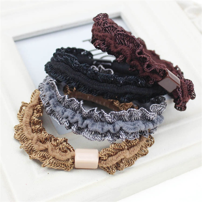 2016 Folds Lace Bow Hair Accessories For Women Headband,Elastic Bands For Hair For Girls,Hair Band Hair Ornaments For Kids lnrrabc 12pcs pack elastic hair bands headband stretchy hair rope rubber bands hair accessories for accessoire cheveux