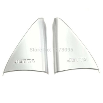 For Volkswagen VW Jetta 2017 2018 2019 ABS Front Window Side Triangle Corner Cover Trim A Pillar Frame Car Styling Accessories