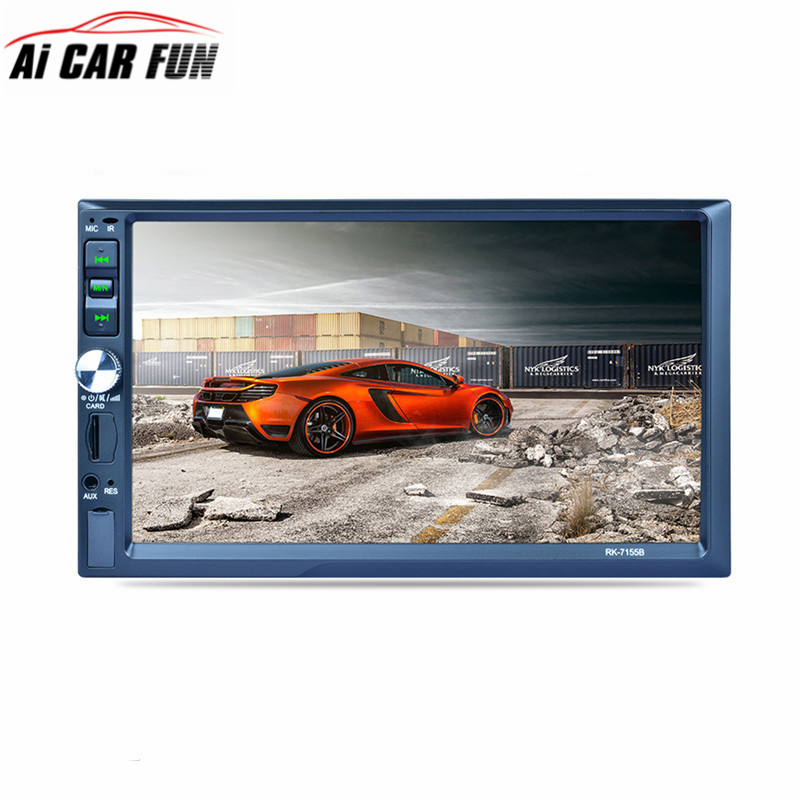 RK-7155B 2Din 7inch Bluetooth Car Radio FM/AM/RDS Radio Fast Charge with Rear View Camera Function Car Multimedia Player Car MP5 sangean am fm rds atomic clock radio with ipod dock