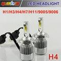 H1 LED 72 Вт 7800lm 6000 К ксеноновые лампы Белого Фары автомобиля H7 H3 H11 9005 9006 Авто Фары Противотуманные фары Комплект Для Бьюиках Люкс Mazda