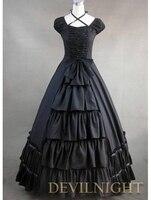 Gorgeous Classic Black Multi Layered Gothic Victorian Dress Antique Victorian Dresser