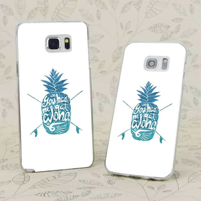 C2457 You Had Me At Aloha Transparent Hard PC Case Cover For Samsung Galaxy S 3 4 5 6 7 Mini Edge Plus Note 3 4 5 7