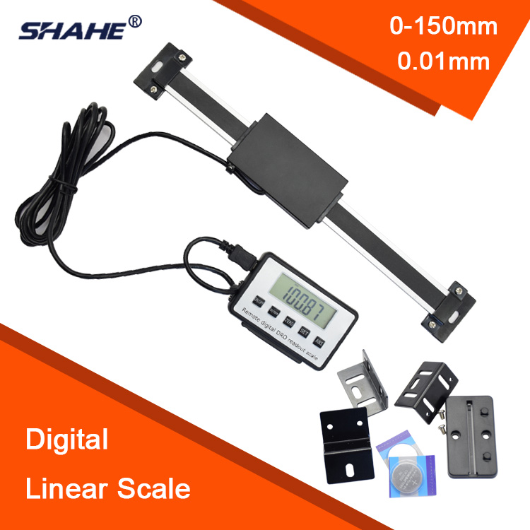 Free Shipping 0-200mm Readout Digital Linear Scale with Remote Display External Display ruler digital readout remote display цены