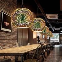 LED Ceiling Lights 3D Glass Ball Reflector Fireworks Christmas Colorful Restaurant Bar Cafe Art Single Head Glass Z3