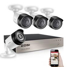 ZOSI 8CH 1080P TVI DVR 2.0MP 1080P كاميرا تلفزيونات الدوائر المغلقة P2P أمن الوطن في الهواء الطلق كاميرا مراقبة نظام الدائرة التلفزيونية المغلقة أطقم