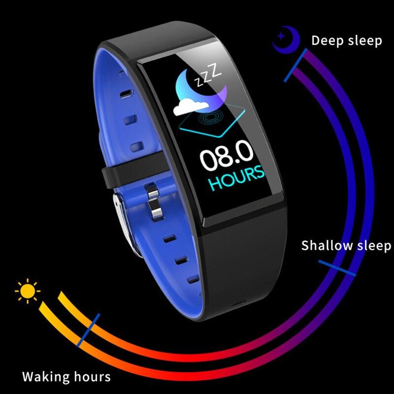 Sonno tracker donne femminile periodo ricordare braccialetto Intelligente di pressione sanguigna orologio smartwatch uomini di frequenza cardiaca impermeabile pk y9 h9 fascia-in Braccialetti smart da Elettronica di consumo su AliExpress - 11.11_Doppio 11Giorno dei single 1