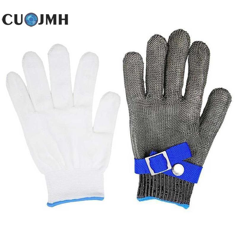 Anti Piercing Gloves Stainless Steel Grade Steel Wire And Pe Steel Ring Iron Gloves Anti-cutting Safety Cut Proof Protect Glove europe and the authentic proof cut glove cut against blade puncture proof black cloth gloves gloves category 5 wire page 8