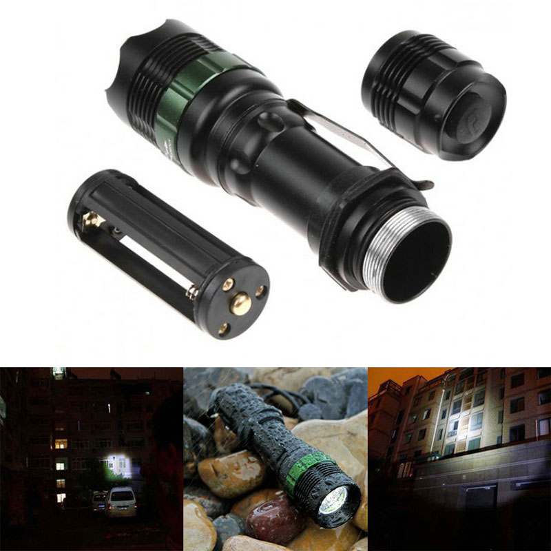 Купить с кэшбэком Tactical Flashlight Torch Strong Lumen Pen Pocket Light Zoom Adjustable Focus Led Torch Lantern Hunting Hiking Police Lamp