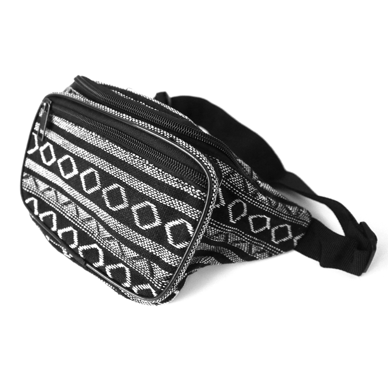 bad15f7767a US $6.61 34% OFF|Fanny Pack Stripe 80s Waist Bags iridescent Woven Tribal  Print Waist pack for Travel,Rave Party,Trip,Festival-in Waist Packs from ...