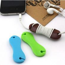 Намотки кость кабельный кабеля наушников формы резиновые случайный провода наушники организатор