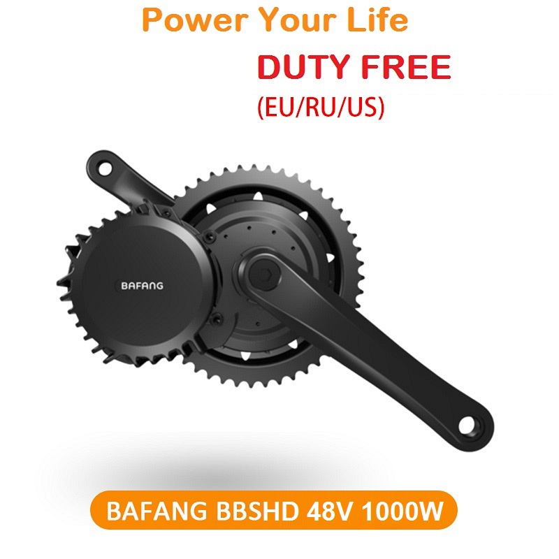 Free Shipping Ebike 48V 1000W Bafang 8fun BBS03 BBSHD Mid Drive Motor Kit BB 68mm 100mm 120mm Exclusive TFT850C LCD Display