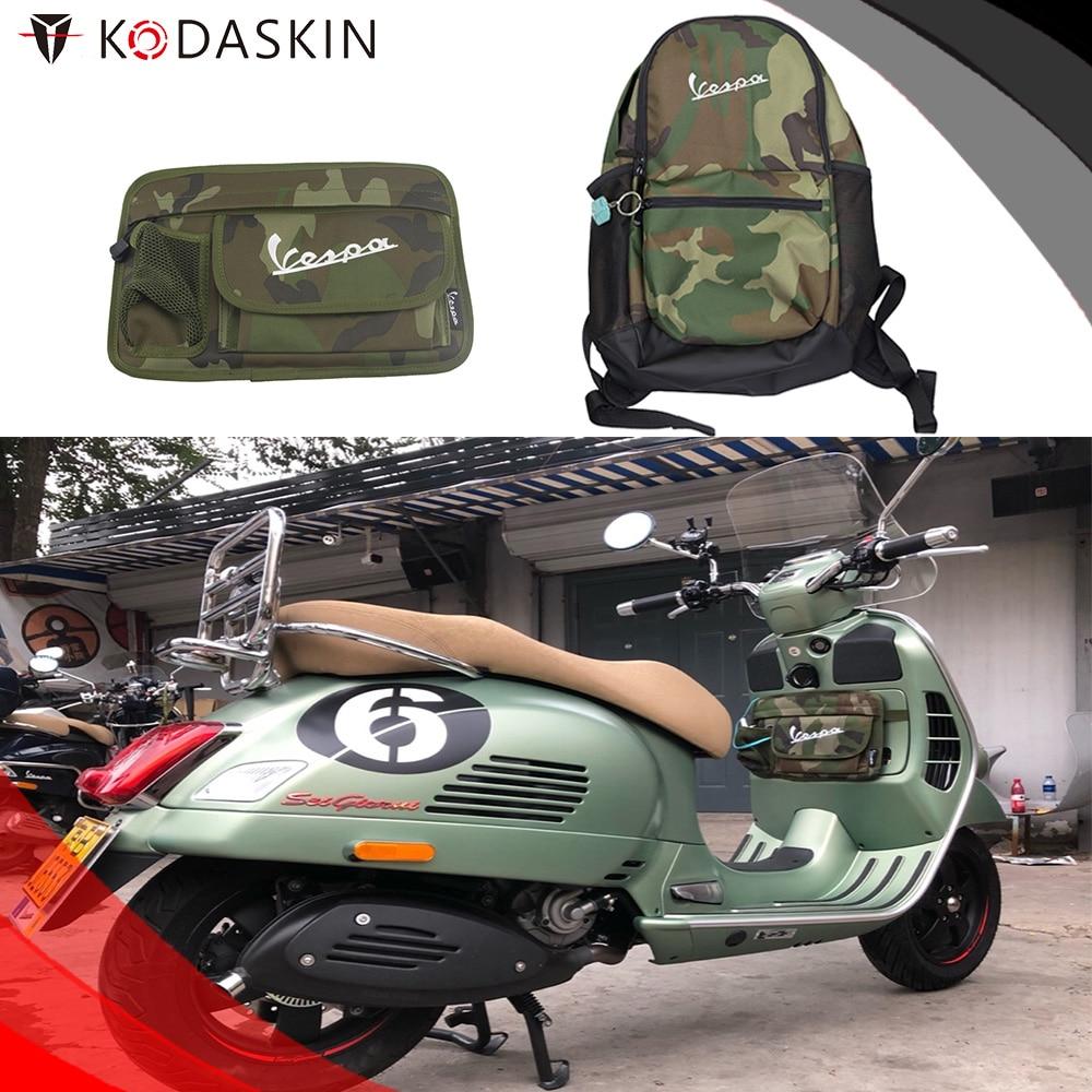KODASKIN Scooter Backpack Glove Bags Storage Bag for Vespa GTS LX LXV Sprint Primavera 50 125 250 300 gts300