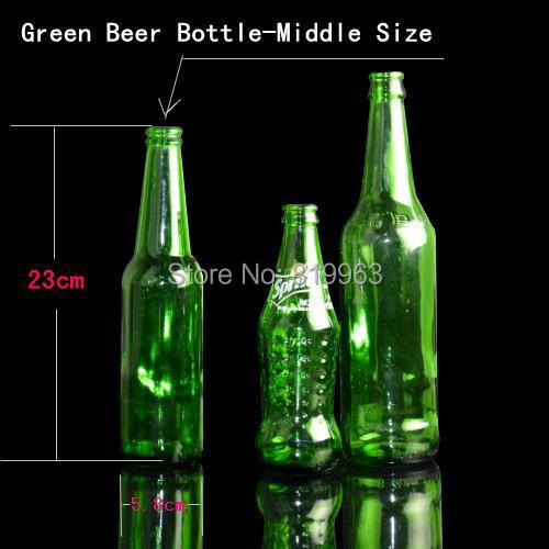 2014 Hot Bomb Bottle Breaking Green/White (Beer Bottle) 23cm (Middle Size 1piece) - Magic Tricks,Mentalism Magic Props,Stage