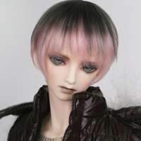 Doll Accessories 1 3 1 4 Bjd Wig Short Doll Hair Gradient Mixed Color High Temperature