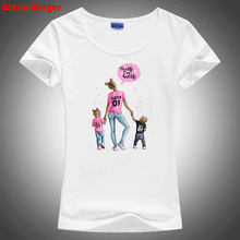 Glenn Berger Super Mama Print T-shirt for  Mothers Day Gift White Mom Vogue T Shirt Tops Summer Clothes Femme Tee