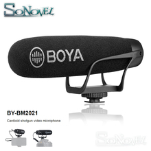 BOYA BY-BM2021 Super Cardioid shotgun video microphone for DSLR Camera Canon Nikon Sony Panasonic Camcorder Smartphone