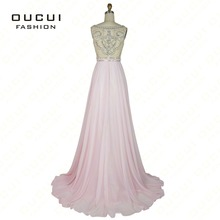 oucui Real Photo Formal Gown Chiffon Evening Dresses