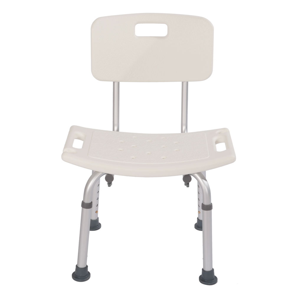Heavy-duty Aluminum Alloy Old People Backrest Bath Chair CST-3012 White