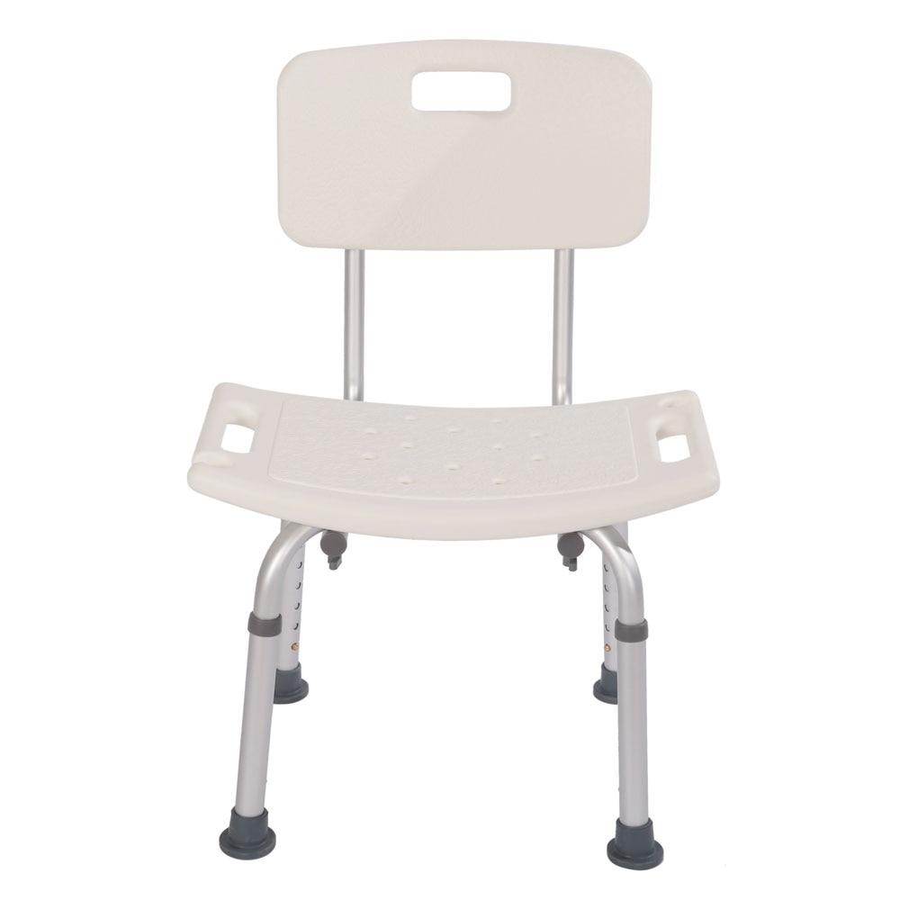 Heavy-duty Aluminum Alloy Old People Backrest Bath Chair CST-3012 White