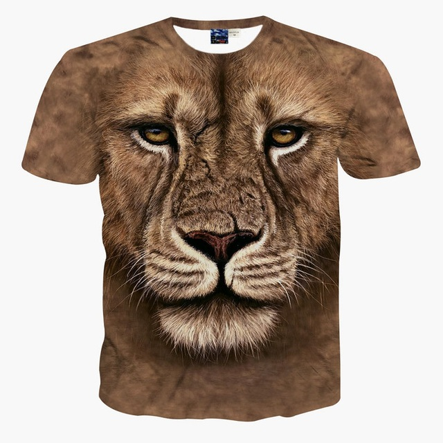 711f147a177 US $23.5 |3d sublimation printing custom brown lion king summer cool t  shirt on Aliexpress.com | Alibaba Group