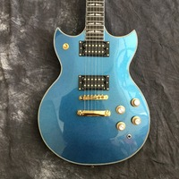 New Arrival China OEM Blue Metal Finishing Suneye SG Electric Guitar With Pull / Push Switch As Photos