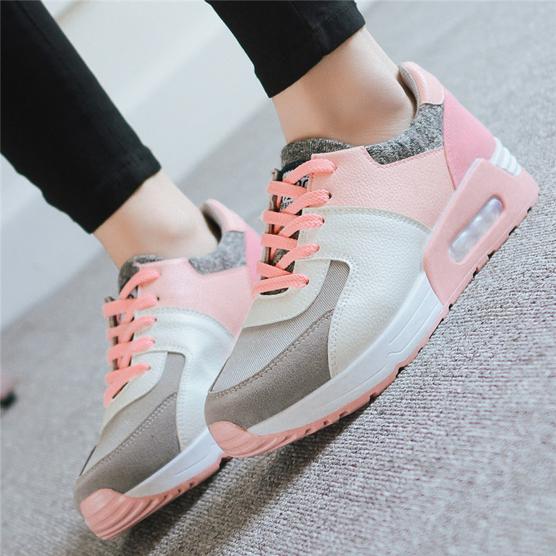 Sneakers female students flat air cushion sport shoes Outdoor comfort  running shoes for women breathable walking jogging shoes