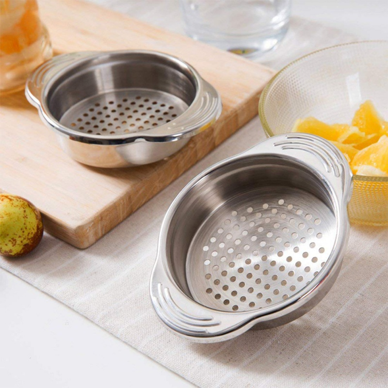 Stainless Steel Food Can Strainer Sieve Tuna Press Lid Oil Remover Drainer Can Water Filter Colander Kichen Tool Home Gadgets image