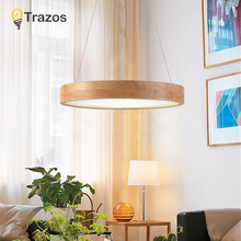 Pendant Lights Dining Room Pendant Lamps Modern Remote control Restaurant Coffee Bedroom Lighting Iron+Solid Wood LED Holder modern colorful restaurant coffee diningroom lighting metal wood e27 holder pendant lights dining room decoration pendant lamps