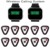 2 pcs Relógio De Pulso Receptor + 10 pcs Botão de Chamada Pager Sistema de Chamada Sem Fio Restaurante Pager 433.92 MHz Restaurante Equipamentos F3296