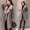 Последние Молодых женщин Зимнее пальто Имитация ягнят шерсти пальто Мода Толстые Искусственные замши ткани Высокого качества Женщин Теплое пальто BN1806