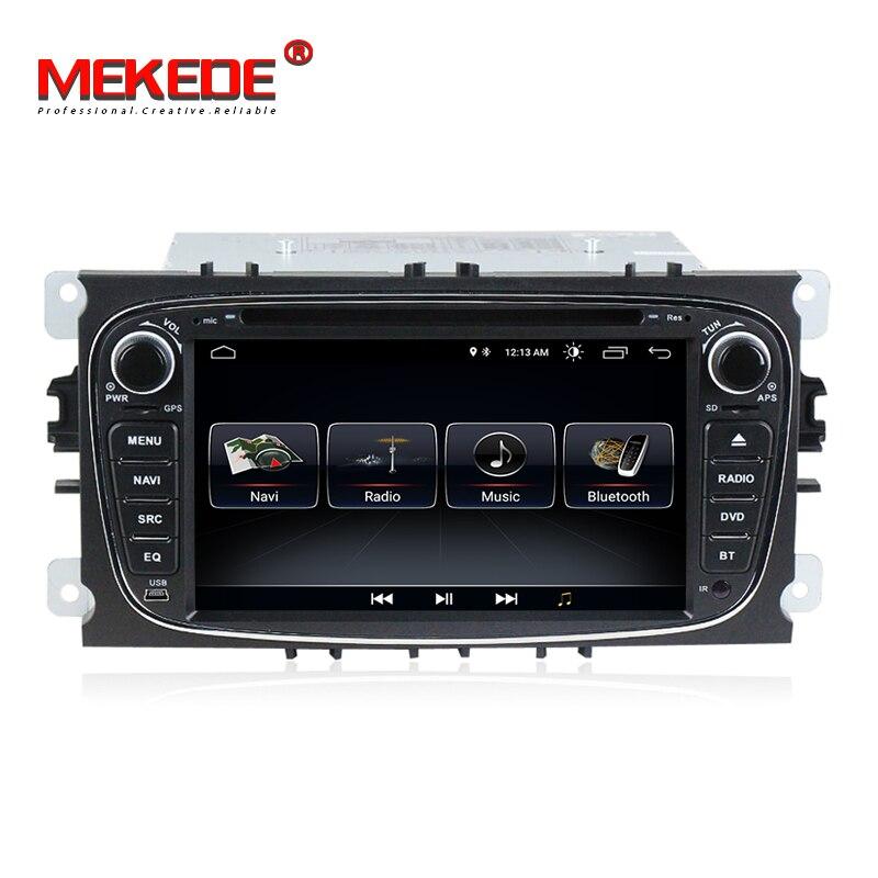 MEKEDE 2din Android 8.1 Car Multimedia DVD Player para FORD Focus Mondeo S-MAX C-MAX Galaxy com WI-FI BT 3G rádio frete grátis