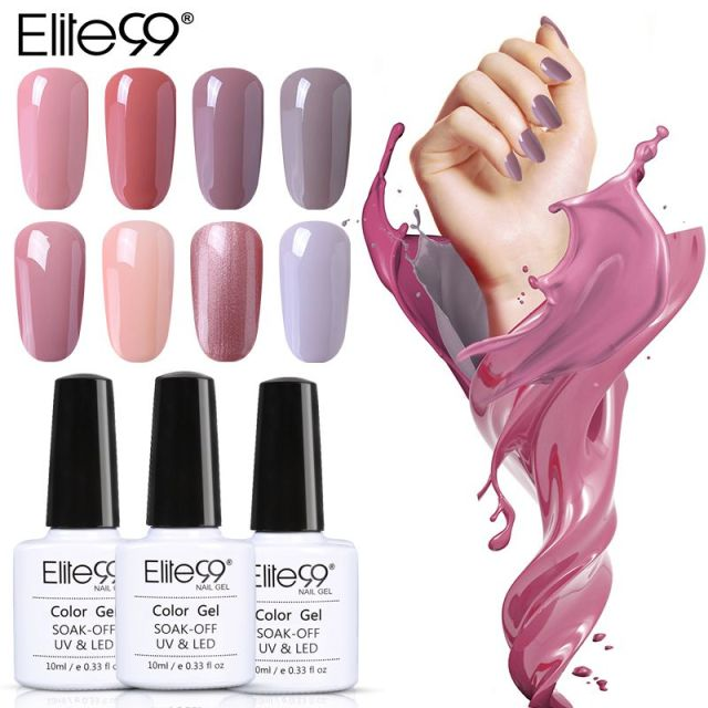 Elite99 Gel Polish Lack UV LED Nude Farbe Serie UV Gel Basis Top Mantel UV Lampe Nail art Design Heißer verkauf Nagellack Lack