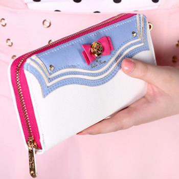 Fashion Samantha Vega Sailor Moon Ladies Long Zipper Female Bag Women brand Leather kawaii Wallet Purse portefeuille femme 2016 billetera sailor moon