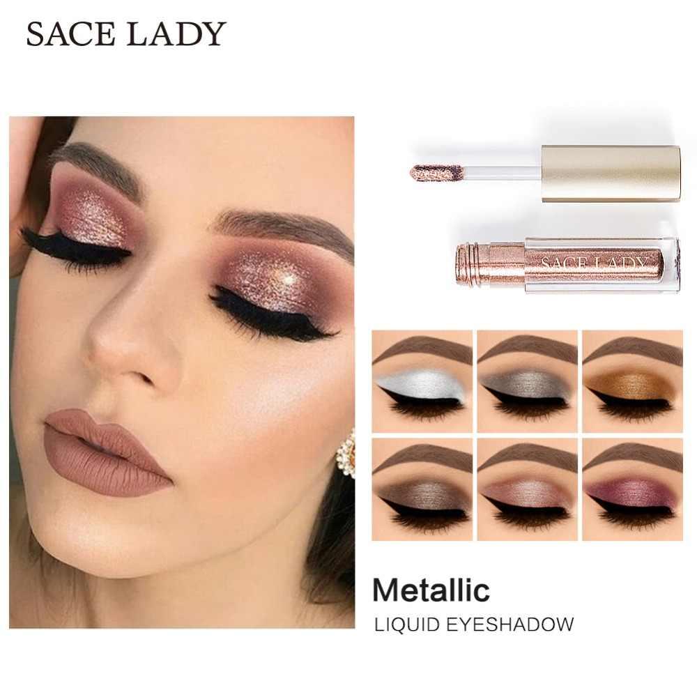 SACE dame professionnel maquillage des yeux ensemble paillettes fard à paupières noir Eyeliner Mascara maquillage ombre à paupières Kit marque étanche cosmétique