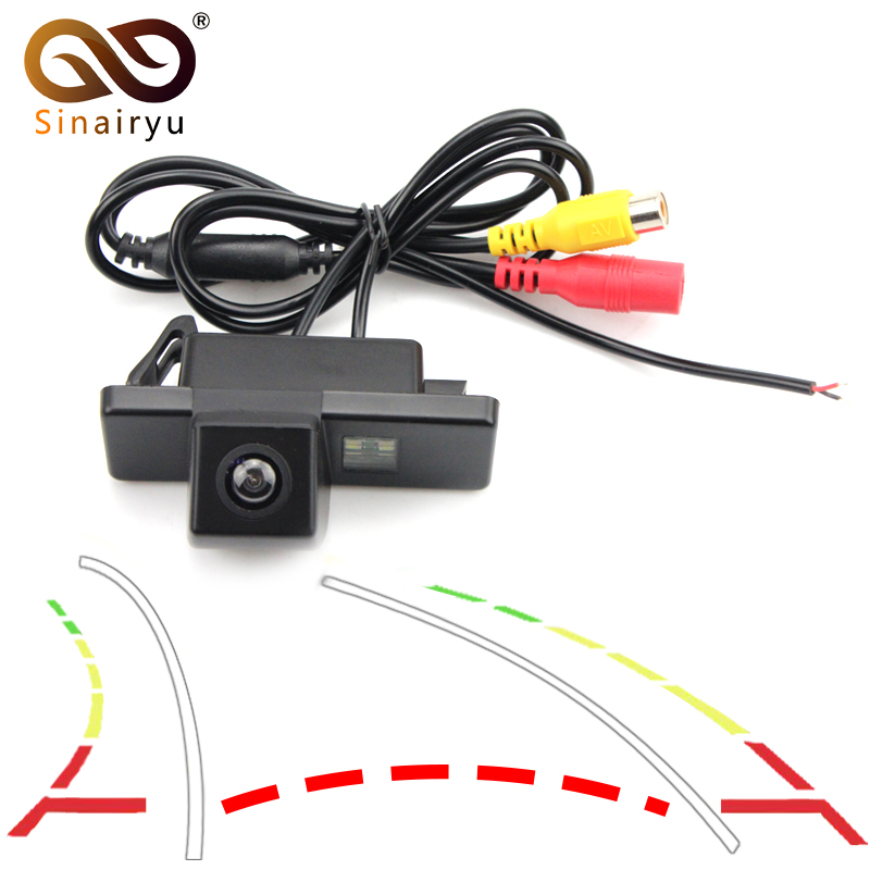 Sinairyu Intelligent Dynamic Trajectory Tracks Rear View Camera for Sony CCd NISSAN JUke QASHQAI/Geniss/Pathfinder/Dualis/Navara ...
