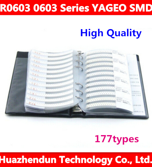 New R0603 0603 Series YAGEO SMD Resistor 170types 8500pcs in Total 1% Tolerance Electronic Components Sample Book new original r0201 0201 series superohm smd resistor 106 types 3025pcs 5% tolerance electronic components sample book