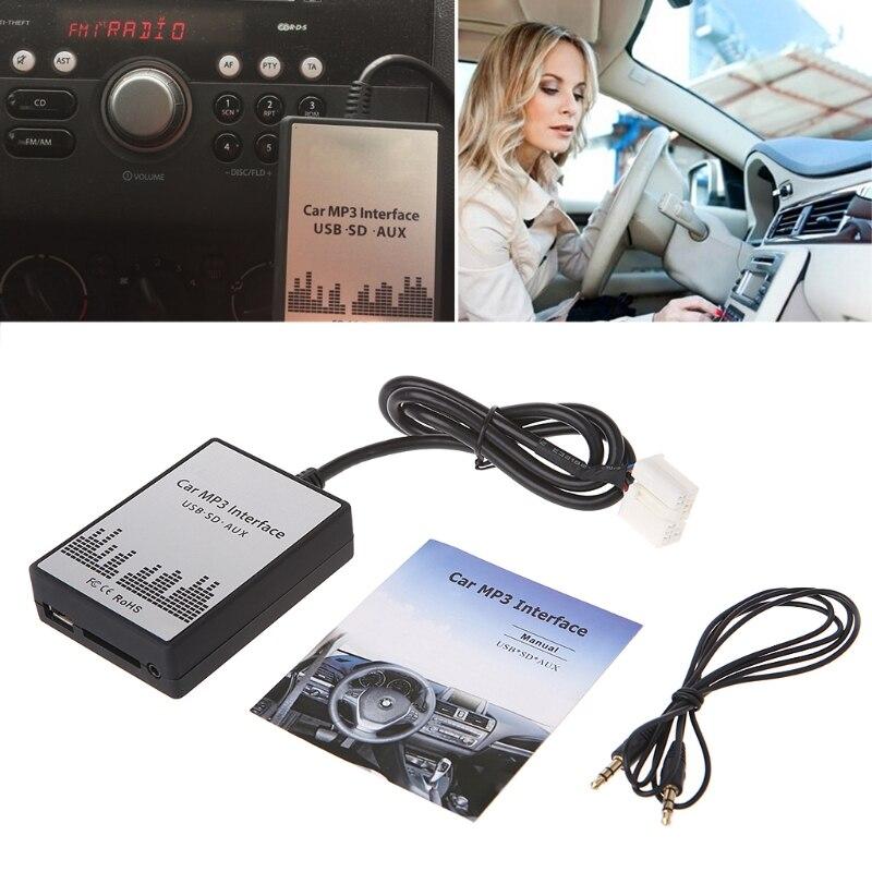 Changement de CD d'adaptateur de lecteur de musique MP3 de voiture d'usb SD AUX d'ootdty pour Suzuki pour Fiat pour l'interface Simple d'installation d'opel