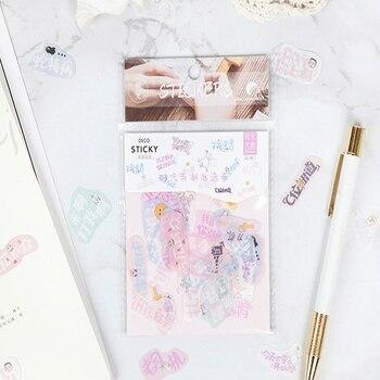 40pcs/lot Cute Text series fresh stickers decoration DIY  Stickers Decoration Planner Diary Album