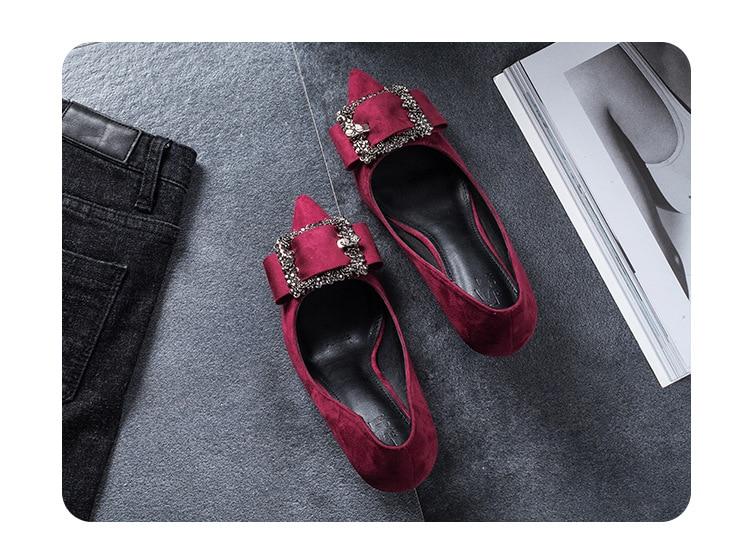 De Bonne Couleur Chaussures Hauts Qualité Casual Rouge 2018 Talons Mince Nouvelle Mariage Arrivée Pointu qwc1Z