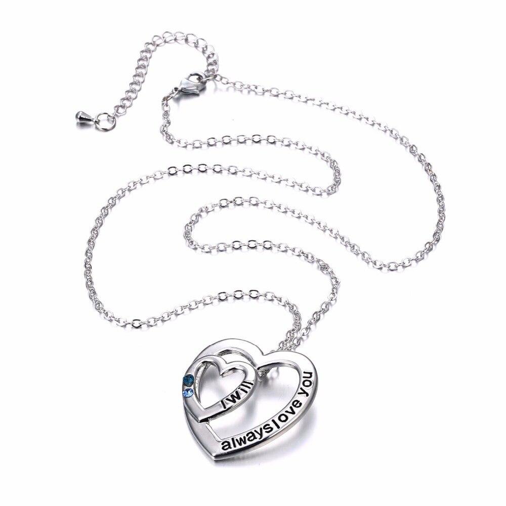 2018 Valentinstag Geschenke Halsketten Schmuck Mit Box Mode Graviert Ich  Immer Liebe Sie Doppelherzform Brief Anhänger In 2018 Valentinstag  Geschenke ...