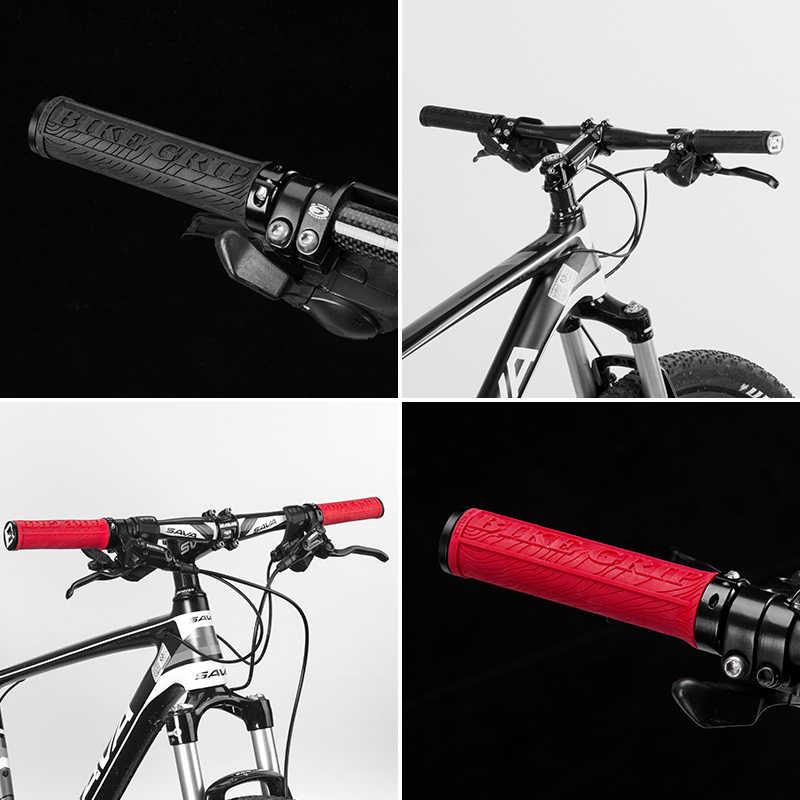 ROCKBROS Bersepeda MTB Sepeda Karet Genggaman Dikunci Anti-Slip Dekorasi Handlebar Plugs Bar Sepeda Aksesoris Sepeda