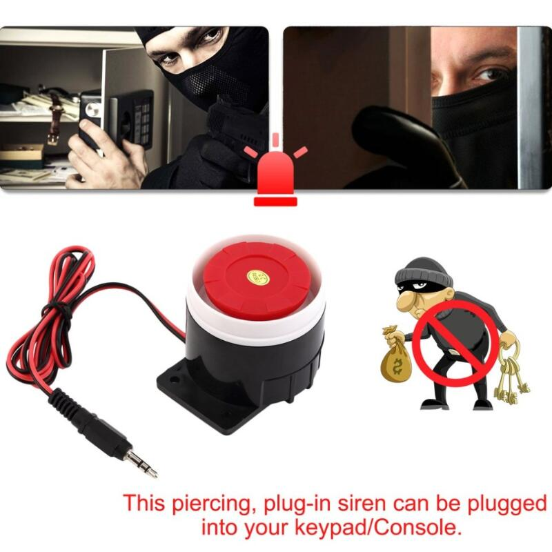 2018 Newest Ear Piercing Indoor Wired Siren Mini Horn Siren Home Security Sound Alarm System 120dB Durable 12V Wholesale ear piercing indoor siren wired mini horn siren home security sound alarm system 120db dc 12v hot promotion