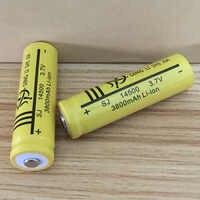 DING LI SHI JIA 4 pièces 14500 Batterie 3.7 V 3800 mah batteries rechargeables au lithium ionique et lampe de poche LED Torche AA Batterie