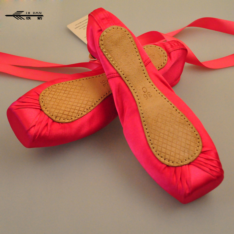 Kids' Sneakers Ballet Dance Shoes leather sole Professional Ladies Satin Pointe Shoes with free shoe bag and Toe caps hot sales women ballet dance pointe shoes high quality colorful satin ribbons with bag and toe pads
