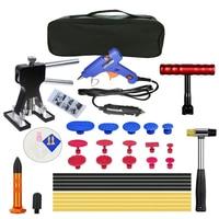 35Pcs/Set 12V Glue Gun Metal Dent Lifter Glue Puller Tab Car Hail Removal Paintless Car Painless Dent Repair Tools Kit