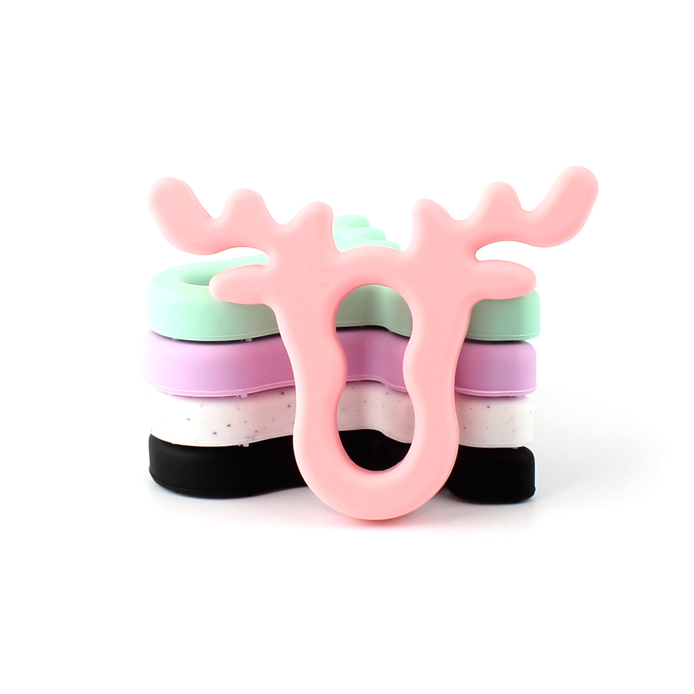 1pcs 100mm Silicone Deer Baby Teethers Rodent Beads DIY Chew Necklace Pacifier Chain Pendant Food Grade Silicone BPA Free