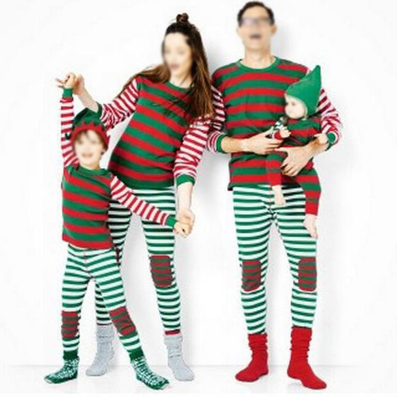Family Matching Outfits Christmas Mother Father Chirldrens Pajamas Set Night Wear Suits Mather Baby Daughter Clothe