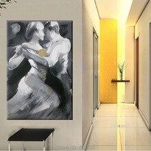 Ручная роспись стены Современное абстрактное искусство картины маслом на холсте Waltzing Love картины живопись для гостиной домашний декор